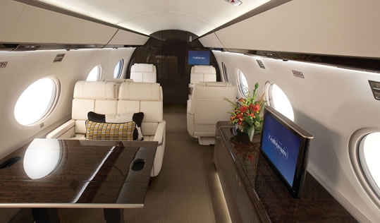 Aviation marketing services corporate jets aphrodite for Large cabin business jets